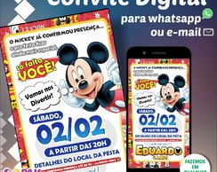 Convite Digital p/ Envio via Whatsapp (Mickey)