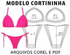 Moldes Bikini Cortininha Corel Pdf Molde No Elo7 Laura Mv