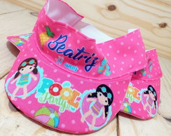 Viseira Infantil Pool Party Personalizada