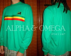 Camiseta Reggae Roots VERDE (mg. longa)