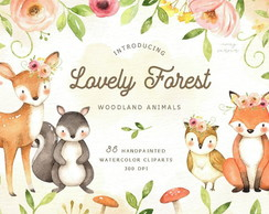 Lovely Forest Watercolor Kit Digital