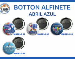 Botton Alfinete Abril Azul Modelo 3,8cm