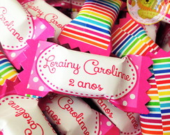 Bala personalizada candy colors