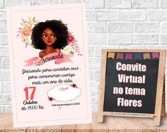 Convite Virtual no tema Flores