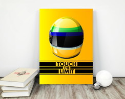 Placa Poster 30x40cm Ayrton Senna Touch The Limit