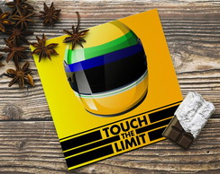 Placa Poster 40x40cm Ayrton Senna Touch The Limit