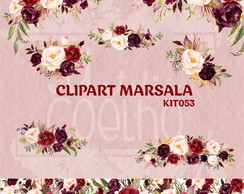 Kit Digital CLIPART MARSALA