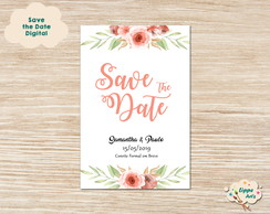 Save the Date Digital - Casamento Marsala com Rosa Chá