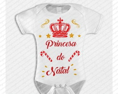 Arte body princesa do natal