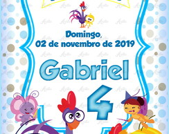 Save the date Galinha Pintadinha Cute