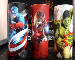 Copo long drink estampa total Vingadores