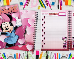 (Miolo Digital) Caderno MINNIE ROSA - A4 + Capa