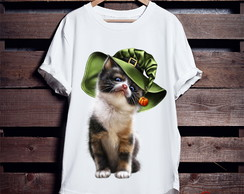 Camiseta Branca Cat witch