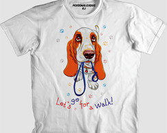 Camisa CACHORRO BASSET HOUND - LET'S GO FOR A WALK