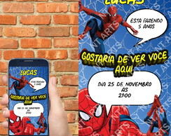 Convite Digital Spider- Man para WhatsApp