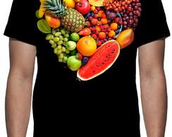 Camiseta - Frutas - Estampa Total