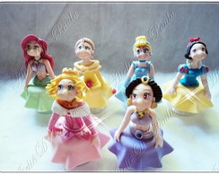 Princesas disney com saia no biscuit