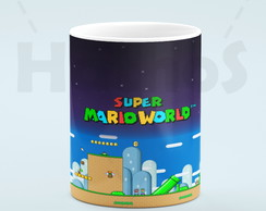 Caneca Super Mario World Branca