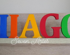 Kit 13 Letras Decorativas Festa Nome MDF Coloridas