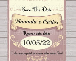 Save the Date - com imã
