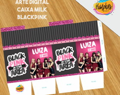 CAIXA MILK BLACKPINK - ARTE DIGITAL - KPOP