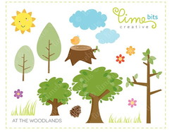Kit Digital Floresta bosque - Bits 20