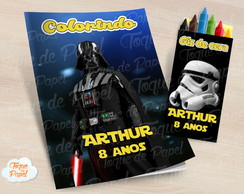 Kit colorir com giz de cera Darth Vader