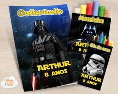 Kit colorir giz massinha Darth Vader