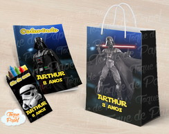 Kit colorir giz sacola Darth Vader