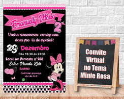 Convite Virtual no tema Minie Rosa