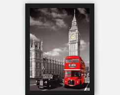 Quadro Decorativo Pôster Londres Big Ben Vintage Casa