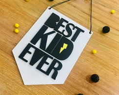 "Quadro Escandinavo ""Best Kid Ever"""