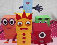 Kit personagens Numberblocks 1 ao 5