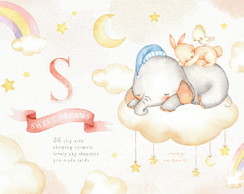 Sweet Dreams Aquarela Kit Digital