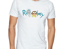 Camiseta Camisa Rick and Morty cientista e seu neto -CS105