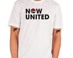 camiseta masculina now united logo bandas k pop kpop coraçao