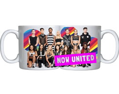 caneca branca now united bandas pop k pop kpop grupos