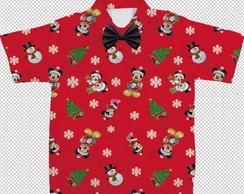 Camisa tema Natal do Mickey PRONTA ENTREGA