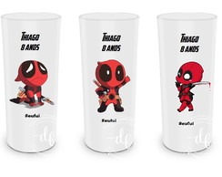 Arte editável para Copo Long Drink Deadpool