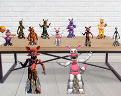 Kit Totem Five Night At Freddy's e Displays de Mesa