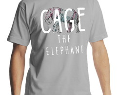 Camiseta Cage the Elephant Masculina Cinza