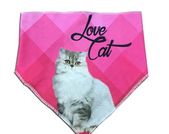 Bandana Pet – Love Cat