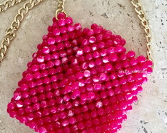 Beaded Bag / bolsa de contas Pink