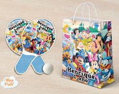 Kit Raquete personalizada Magic Kingdom Disney