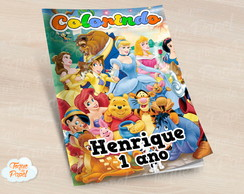 Revista colorir Magic Kingdom Disney