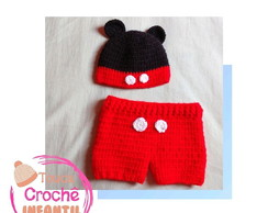 Touca e Short Newborn Mickey
