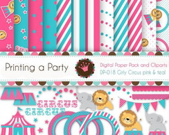 Kit Digital Scrapbook Circo Candy