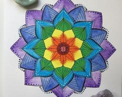 Mandalas Coloridas Desenho Em Vetor Elo7