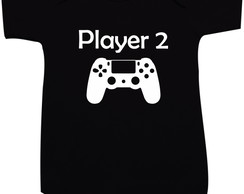 Player 2 - PS4 - Body bebê ou camiseta infantil
