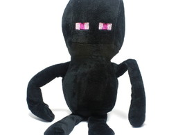 Pelucia Minecraft Enderman Musical 26 cm + Brinde